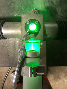 Measurement chamber illuminated by laser