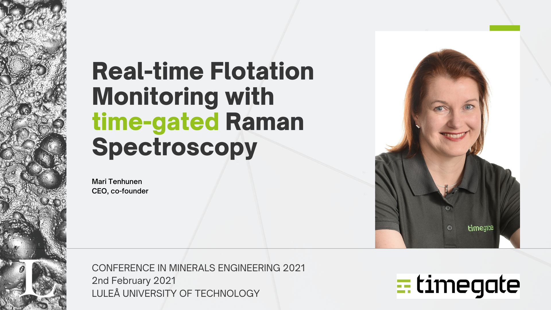 Real-time Flotation Monitoring with time-gated Raman Spectroscopy
