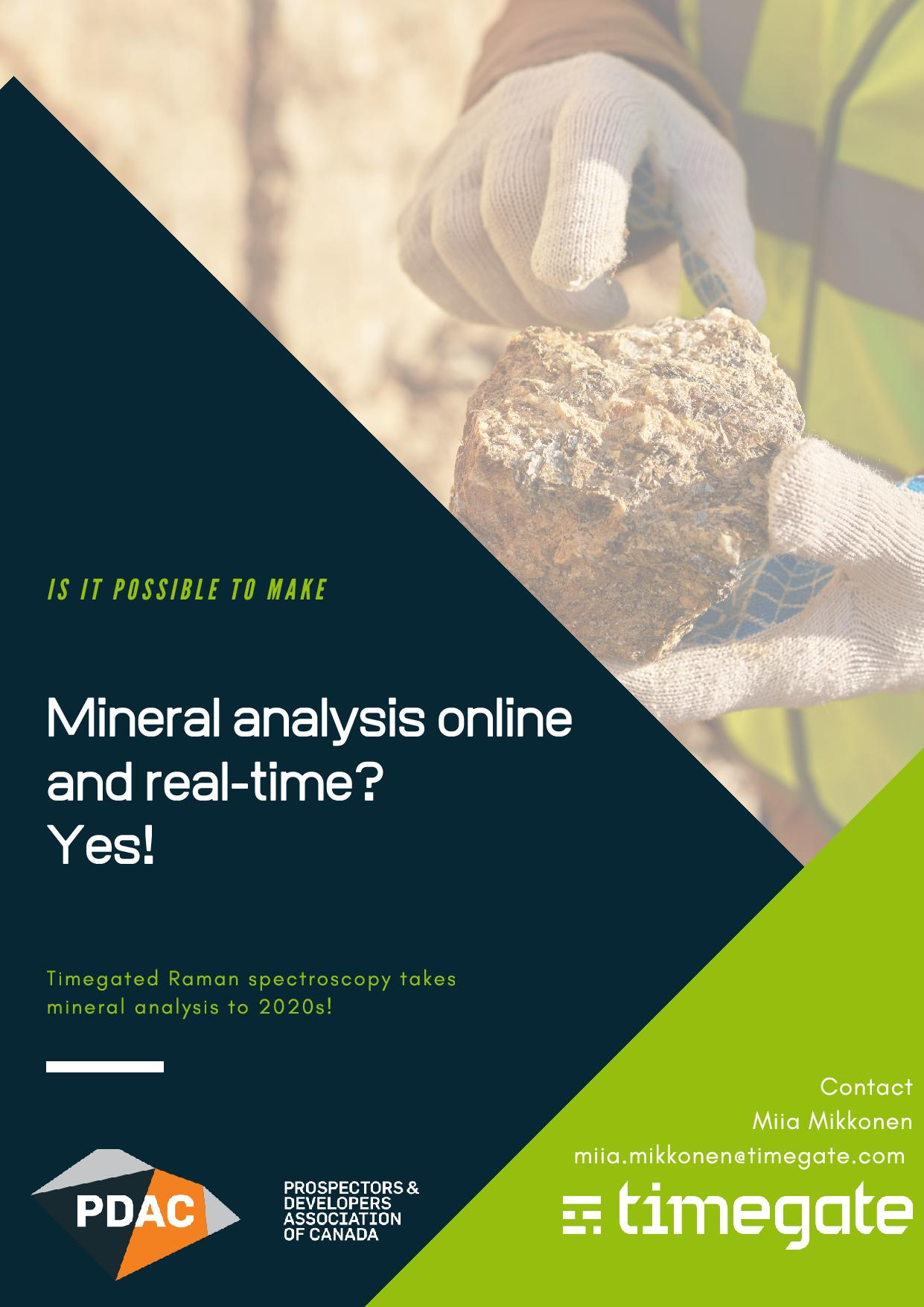 Mineral analysis online and real-time